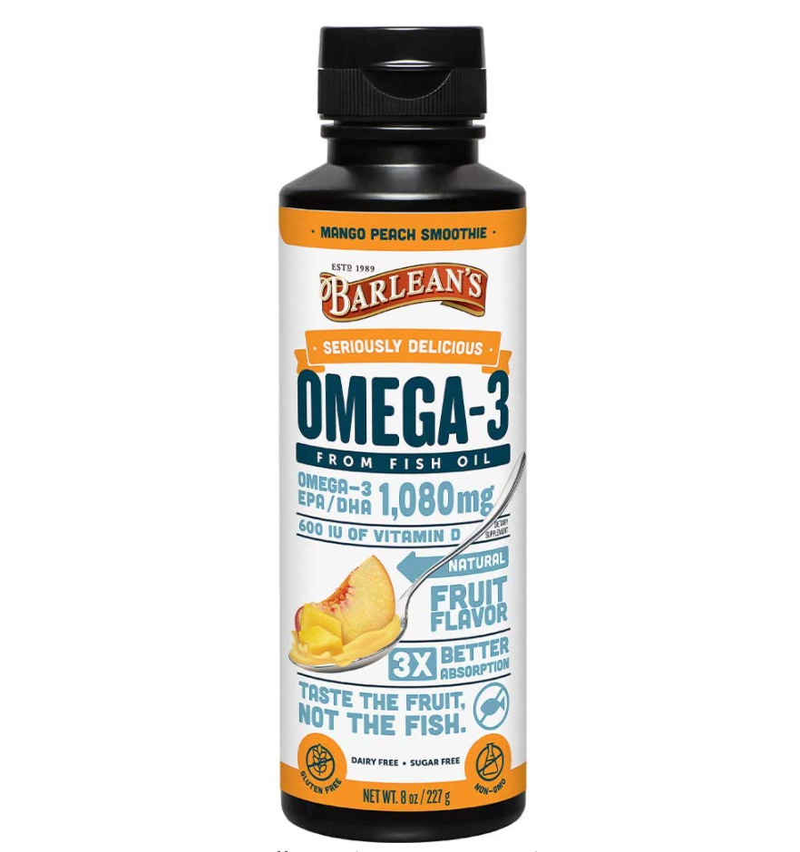 Barlean's Liquid Fish Oil Omega 3 Supplement
