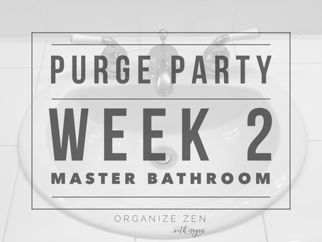 Second Stop on the Purge Party Train - The Master Bathroom - Hop On Board!