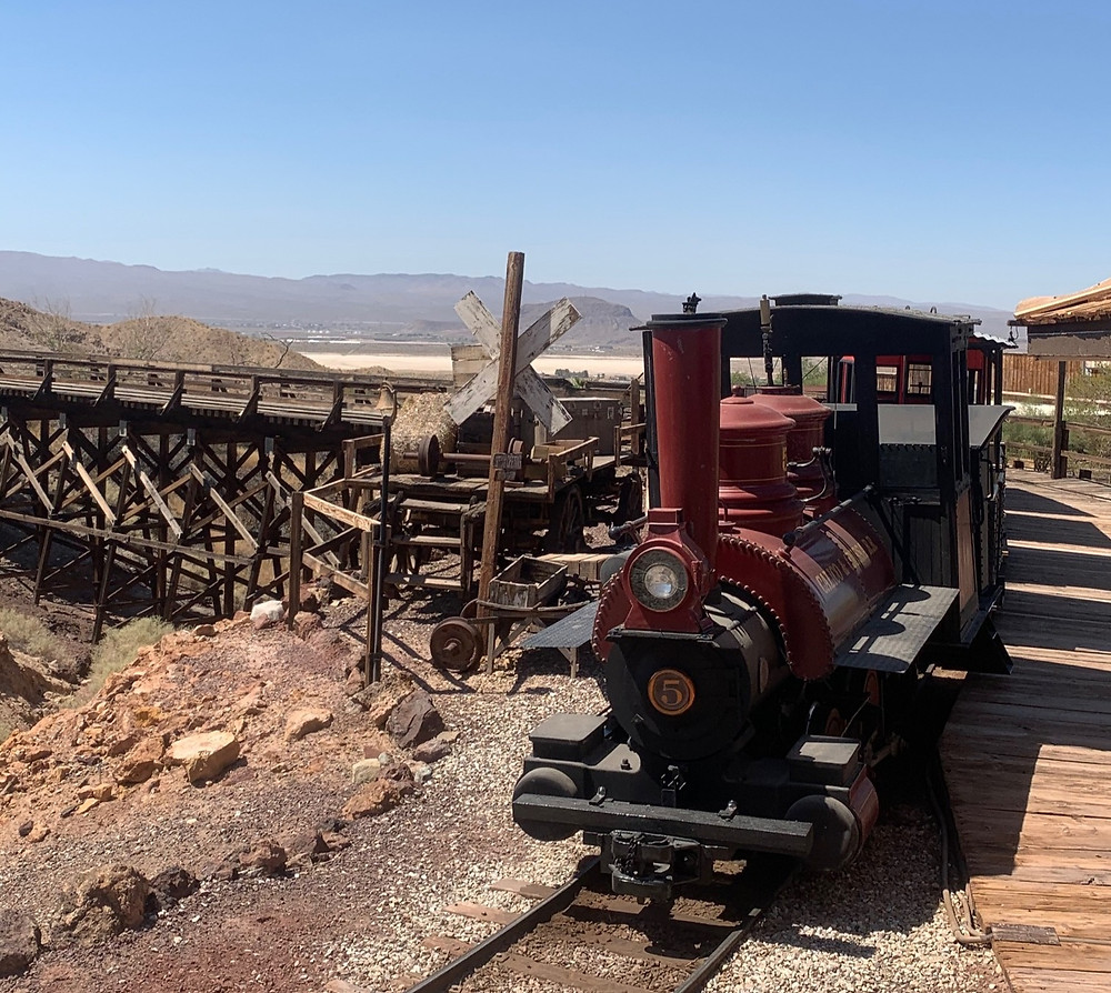 Railroad Train Ride in Calico Ghost Town