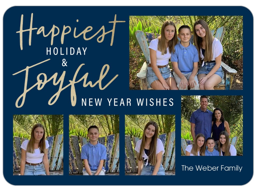 Family Holiday Christmas Card with Kids