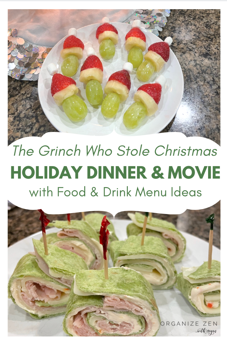 Grinch Christmas Family Movie and Dinner Food ideas