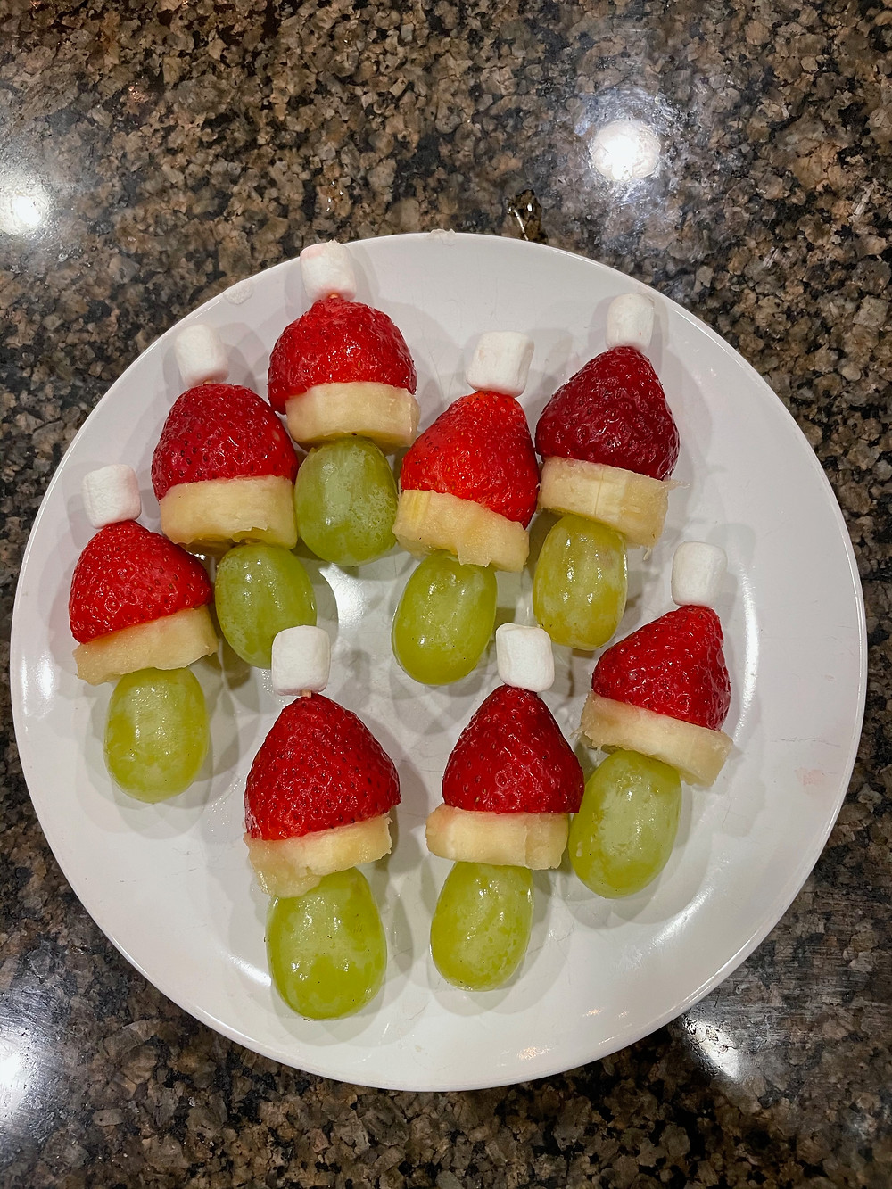Grinch Fruit Kebobs
