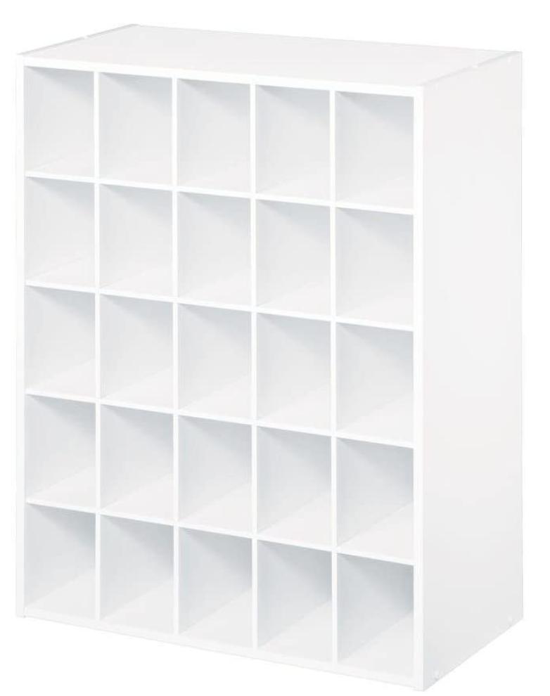 White 25 Shoe Cube Organizer Storage