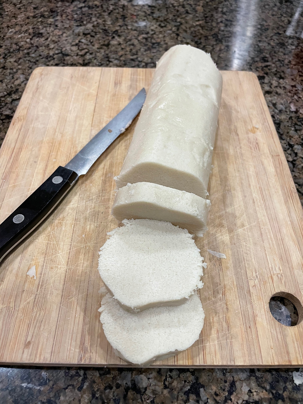 Slice and Bake Cookies with a knife