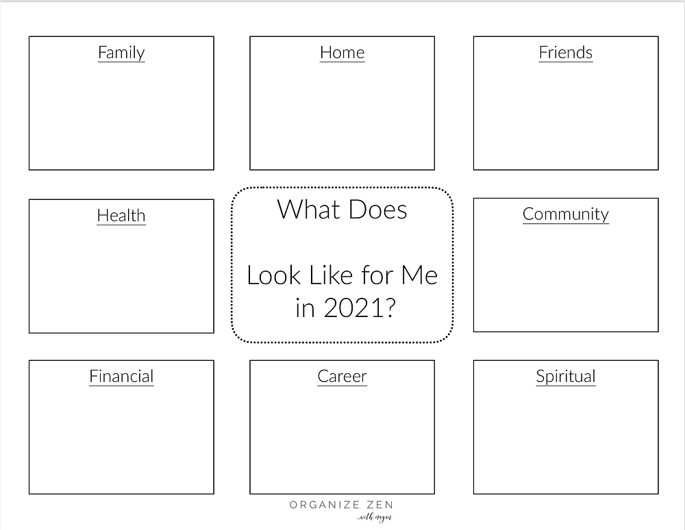 Printable Template for One Word for the New Year