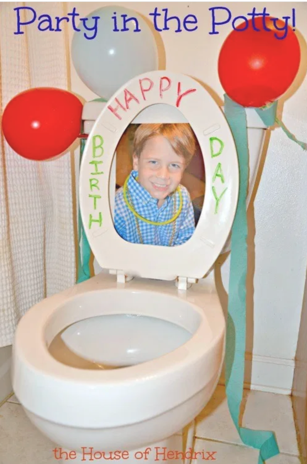 Party in the Potty Birthday Sign