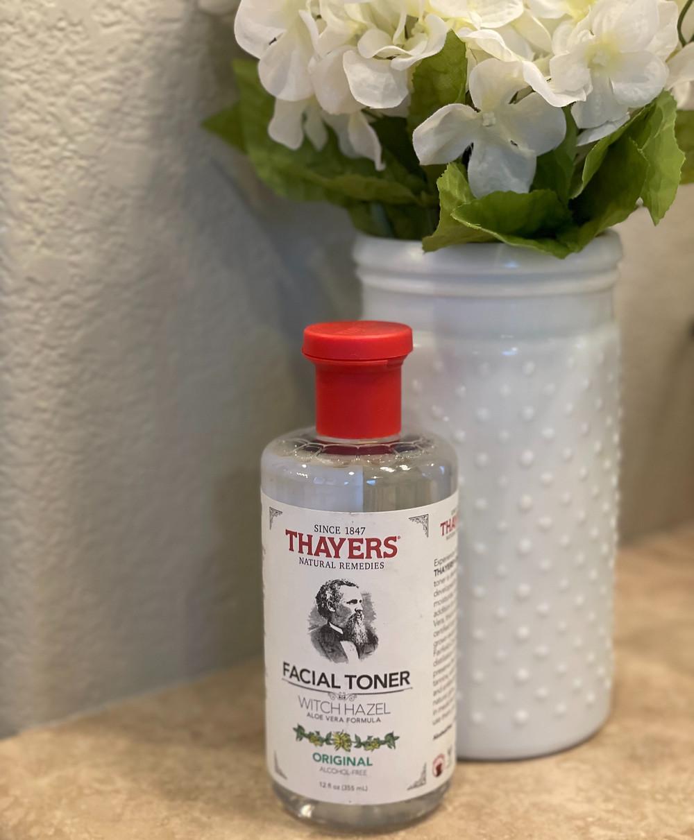 Bottle of Thayers Witch Hazel