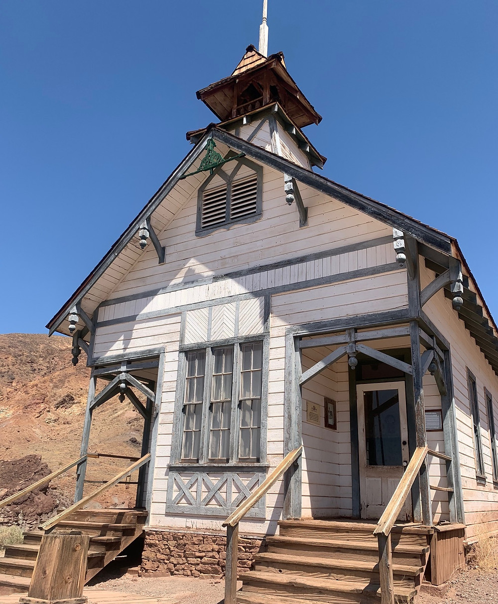 One Room School House in Calico Ghost Town