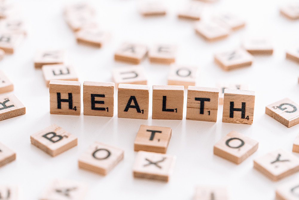 """Scrabble Times Spelling the Word """"HEALTH"""""""