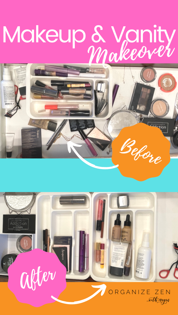 Before and After Photos of Makeup Vanity Makeover