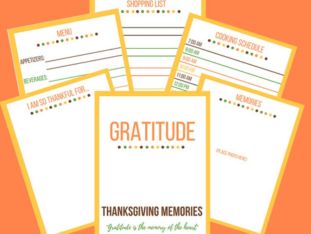 Thanksgiving Tradition - A Printable Gratitude Memory Book