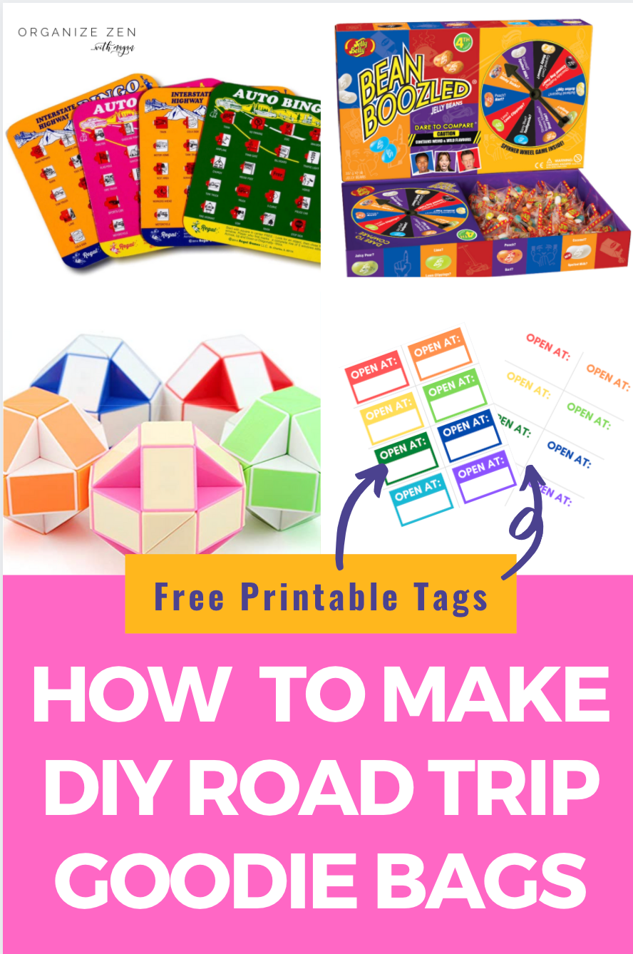 Road Trips Goodie Bag Ideas Games and Activities