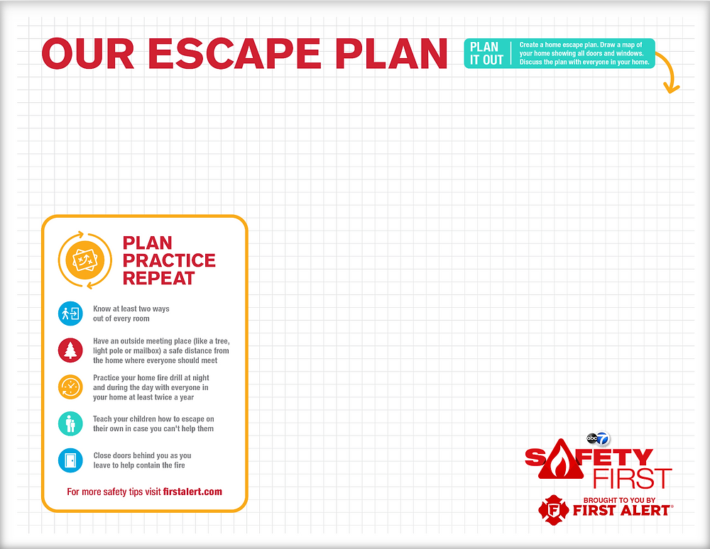 First Alert Family Escape Plan Worksheet