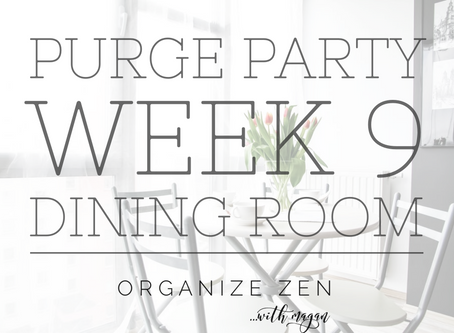 Week 9 and Feeling Fine - In the Dining Room