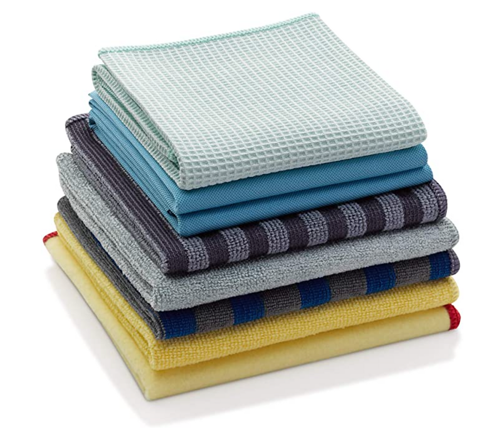 Stack of cleaning cloth rags