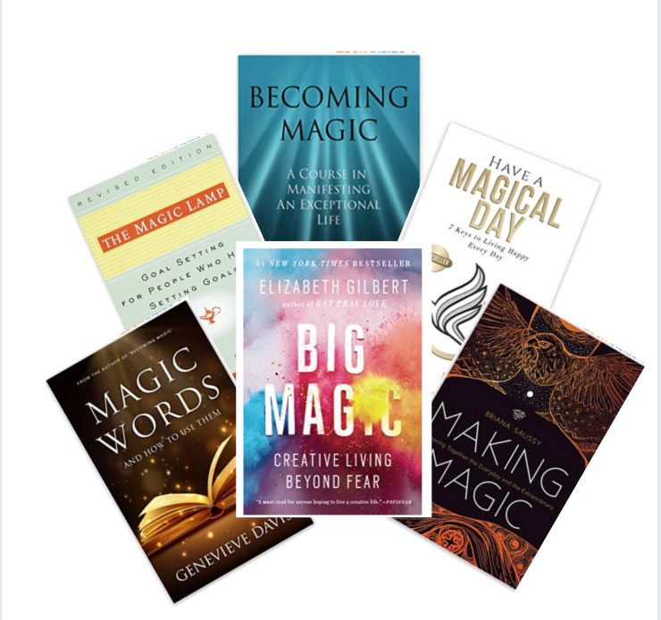 """A collection of books with """"magic"""" in the title"""
