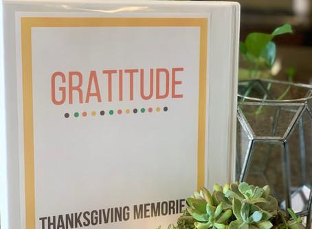 Thanksgiving Tradition - A Printable Gratitude Memory Book