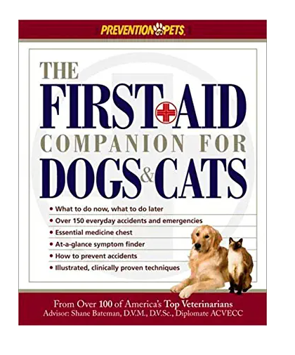 First Aid Book for Pets Cats and Dogs
