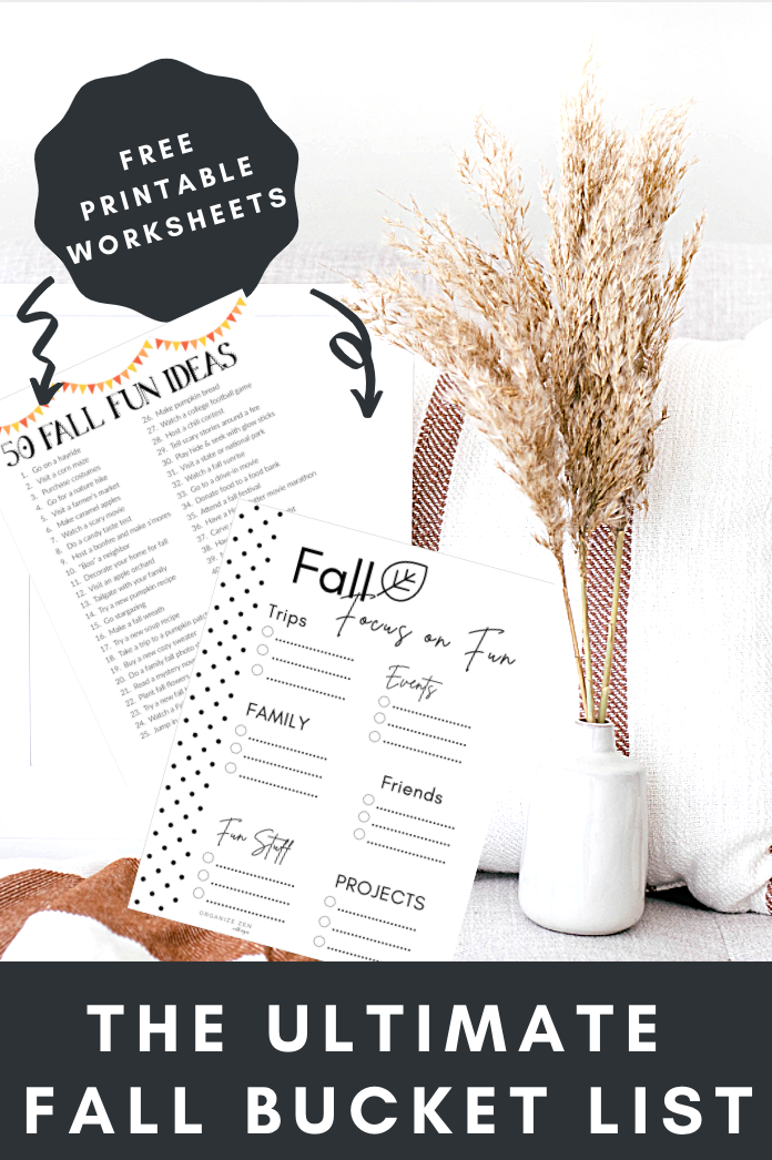Fall Bucket List Printables