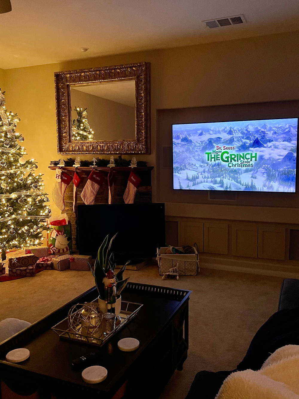 The Grinch Movie with Christmas Tree