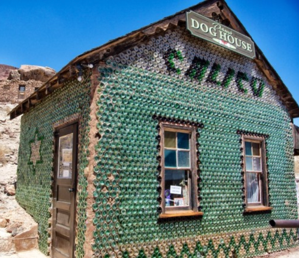 Glass Bottle Dog House in Calico Ghost Town