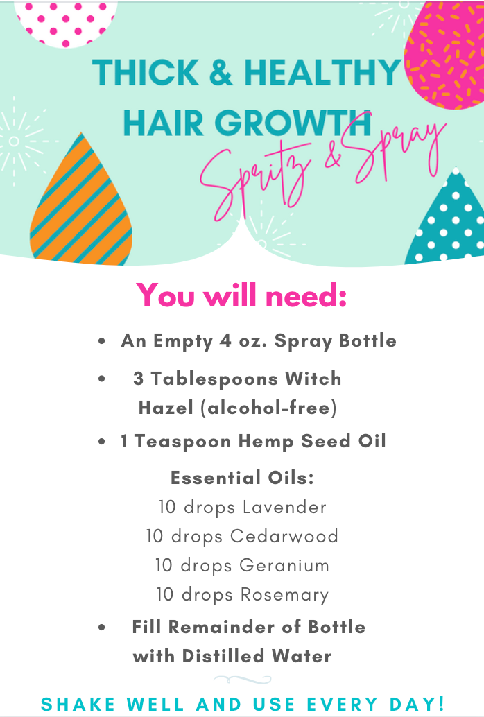 Recipe for Hair Growth Serum Tonic Spray
