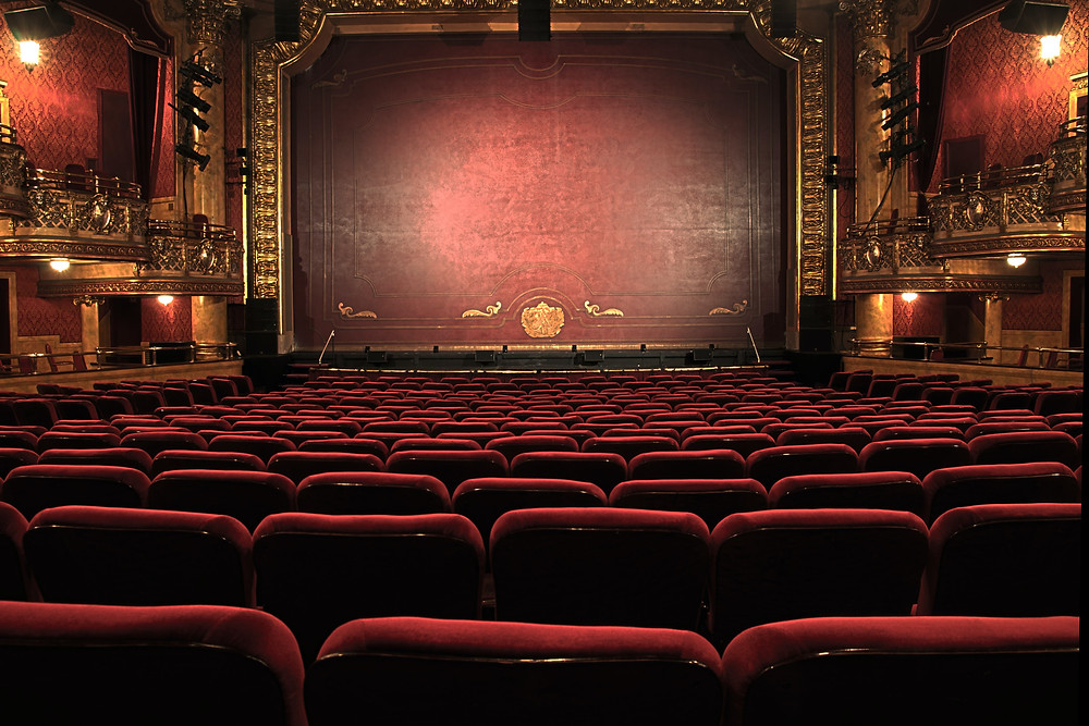 Playhouse theatre with stage and seats