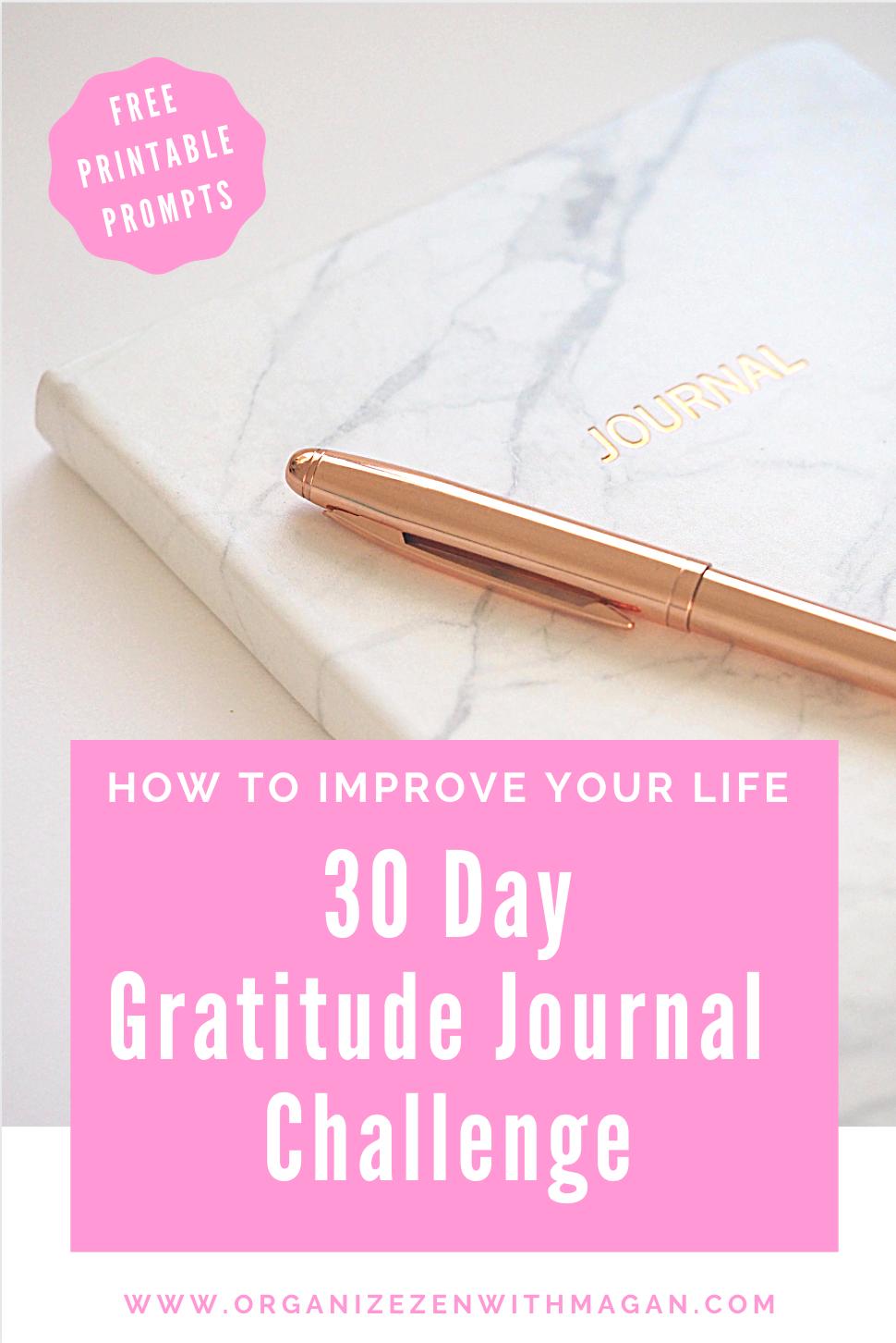 30 Day Gratitude Journal Challenge