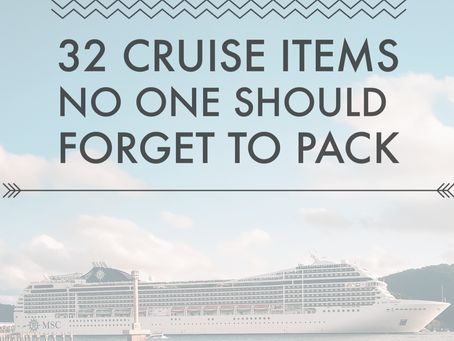 Come Sail Away - The Essentials to Pack for a Family Cruise Vacation
