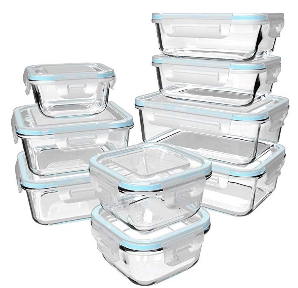 Clear Glass Storage Containers with lids