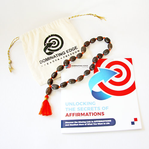 Unlocking The Secrets of Affirmations Booklet + Mala