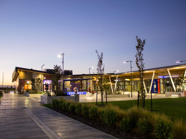 The Landing, by The Buchan Group, for Ngai Tahu Prpoerty Ltd, located at the heart of Wigram Skies, provides a convenient, modern and thoughtfully designed retail and mixed use space for Wigram Skies residents and greater south west Christchurch.