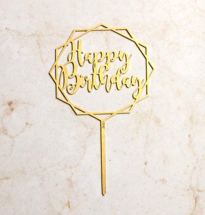Happy Birthday hexágono Grande