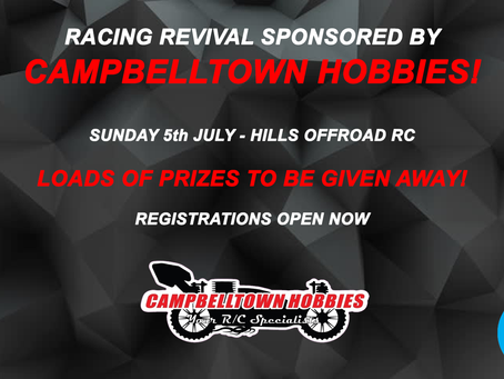 RACING REVIVAL BY CAMPBELLTOWN HOBBIES!