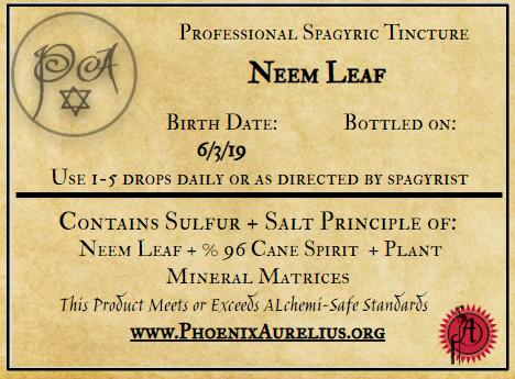 Neem Leaf Spagyric Tincture