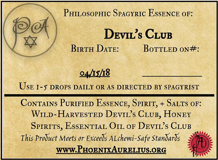 Devil's Club Philosophic Spagyric Essence