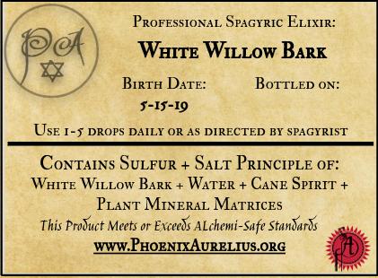 White Willow Bark Spagyric Elixir