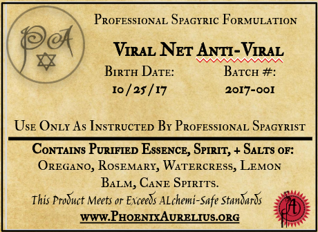 Viral Net Spagyric Formulation