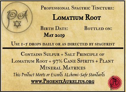 Lomatium Root Spagyric Tincture