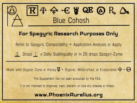 Blue Cohosh Spagyric Tincture