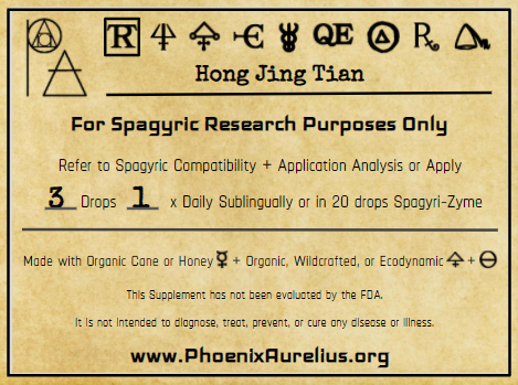 Hong Jing Tian Spagyric Tincture
