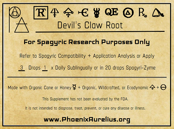 Devil's Claw Root Spagyric Tincture
