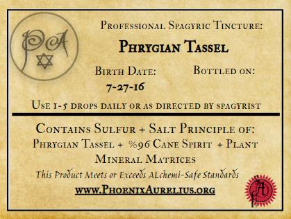 Phrygian Tassel Spagyric Formulation