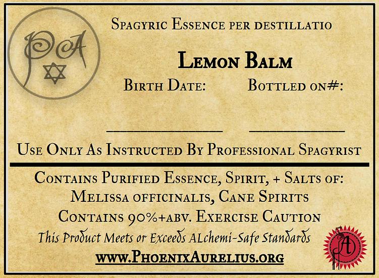 Cohobated Lemon Balm Spagyric Tincture