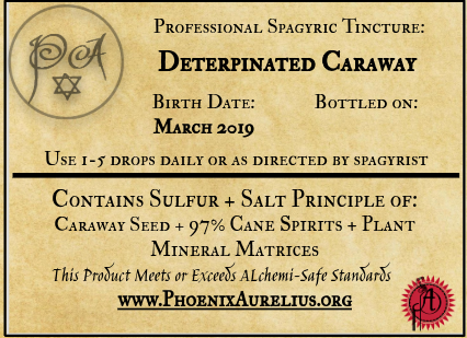 Deterpinated Caraway Spagyric Tincture