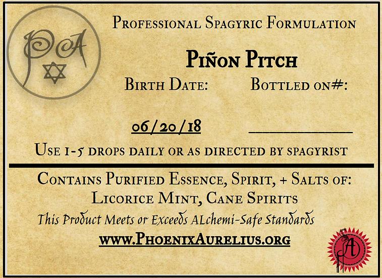 Pinon & Desert Tree Pitch Spagyric Tincture