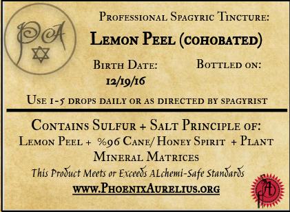 Lemon Peel Cohobated Spagyric Tincture