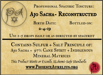 Ajo Sacha Reconstructed Spagyric Tincture