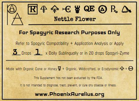Nettle Flower Spagyric Tincture