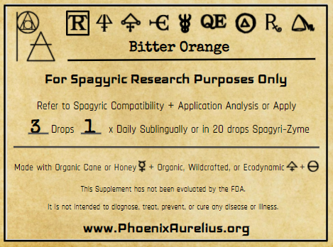 Bitter Orange Peel Spagyric Tincture